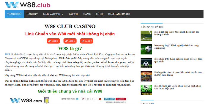 The picture of Ufabet w88 betting!